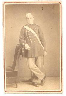 CARTE DE VISITE OF SOLDIER IN FULL MILITARY DRESS
