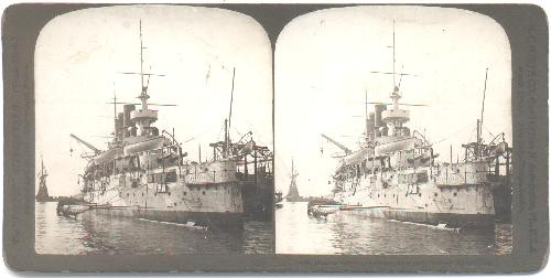 STEREOVIEW -  RUSSIAN BATTLESHIP -