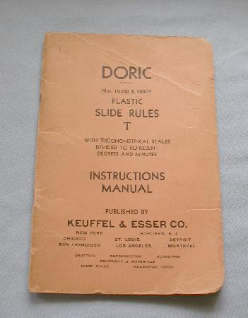 DORIC PLASTIC SLIDE RULE BOOK  T