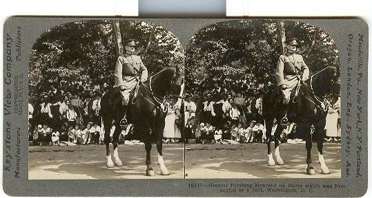 STEREOVIEW - GENERAL PERSHING