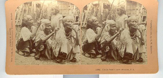 UNCLE SAMS NEW CITIZENS, P. I. -  STEREOVIEW
