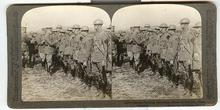 GENERAL PERSHING DECORATING OFFICERS - STEREOVIEW