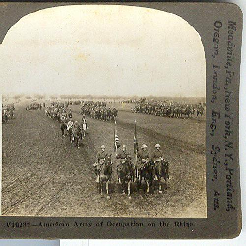 AMERICAN ARMY OF OCCUPATION ON THE RHINE  - STEREOVIEW