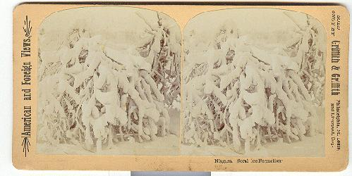 STEREOVIEW - NIAGARA, CORAL ICE FORMATION