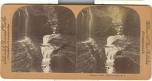 STEREOVIEW - RAINBOW FALLS.  WATKIN'S GLEN, N.Y.