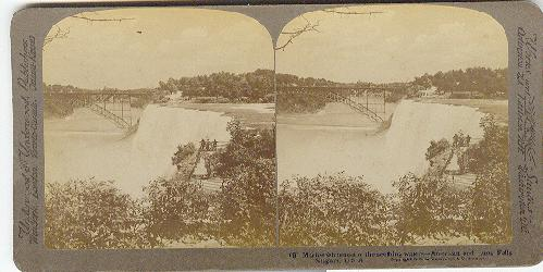 STEREOVIEW - General view of the Falls from the New Steel Bridge..