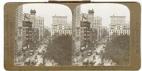 STEREOVIEW - The Great Broadway, New York, U.S.A.