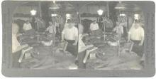 OCCUPATIONAL STEREOVIEW   -  PRESSING CLOTHS IN NEW YORK