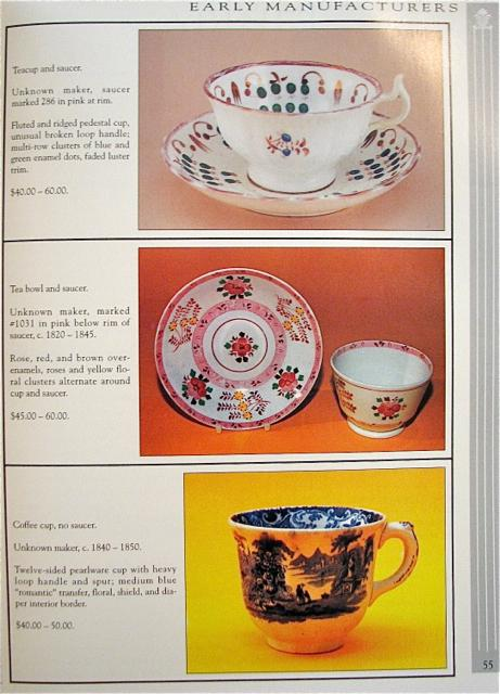 CUPS AND SAUCERS - IDENTIFICATION & VALUES