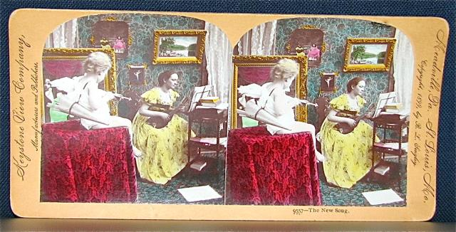 COLOR STEREOVIEW - PLAYING FOR CUPID