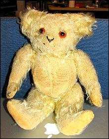 MOHAIR TEDDY BEAR WITH SQUEEZE MUSIC