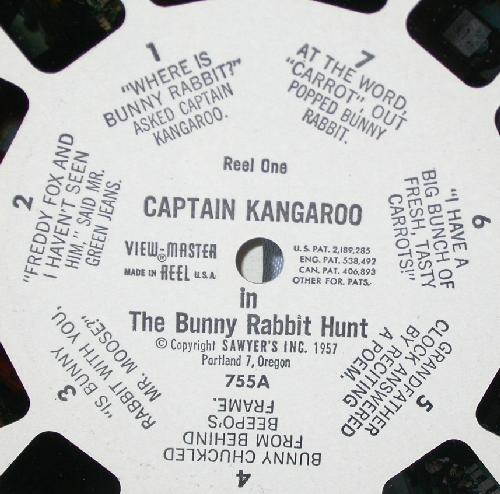 VIEWMASTER REEL - CAPTAIN KANGAROO