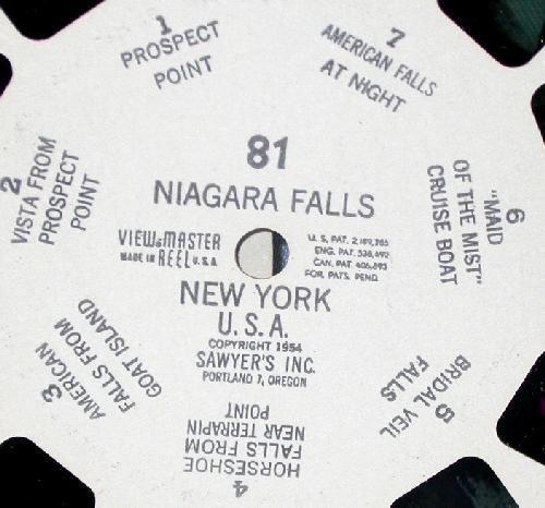 THREE VIEWMASTER REELS - NIAGRA FALLS