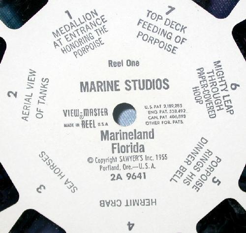 TWO VIEWMASTER REELS - MARINELAND FLORIDA