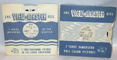 TWO WESTERN VIEWMASTER REELS - GENE AUTRY & KNOTTS BERRY FARM