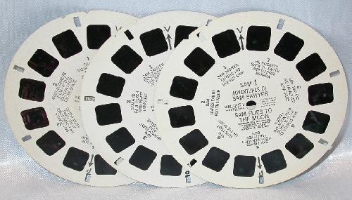 THREE  VIEWMASTER REELS - ADVENTURES OF SAM SAWYER