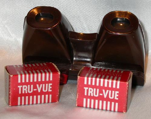 TRU-VUE VIEWER WITH FILM STRIPS
