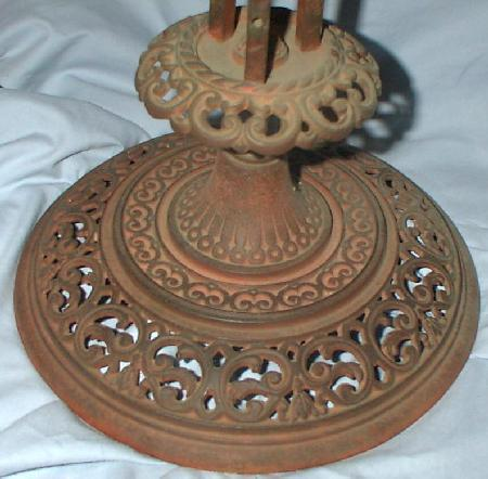VICTORIAN - ORNATE CAST IRON PLANT STAND