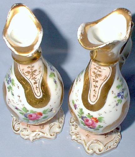 PAIR OF BEAUTIFUL HAND PAINTED OIL AND VINEGAR SET BELIEVED TO BE