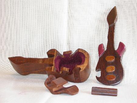 GUITAR PUZZLE - WOOD TRINKET BOX