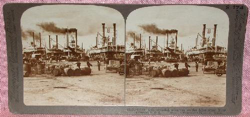 STEREOVIEW - NEW ORLEANS STEAMBOATS