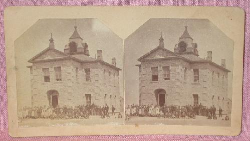 STEREOVIEW - OLD PUBLIC SCHOOL