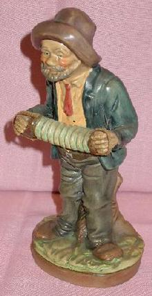 HANDPAINTED OLD MAN FIGURINE