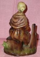 HANDPAINTED OLD WOMAN FIGURINE