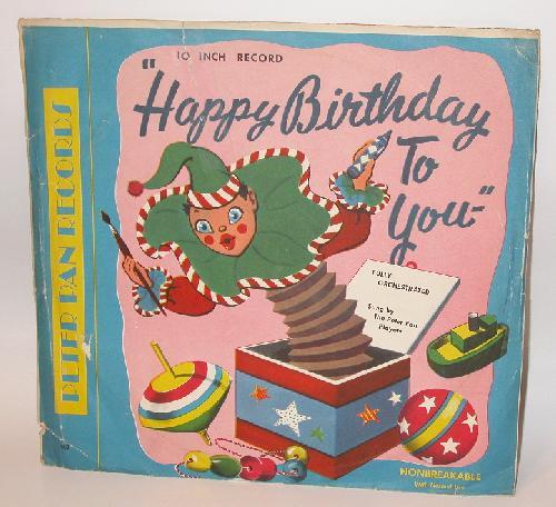 VINTAGE CHILDREN'S RECORD - HAPPY BIRTHDAY