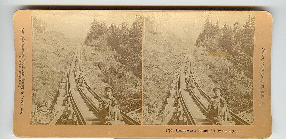 CHILD STEREOVIEW -  HOMEWARD BOUND, MT. WASHINGTON