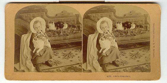 CHILD STEREOVIEW -  LITTLE GRANDMA