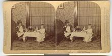 CHILD STEREOVIEW -  DOLL TEA PARTY