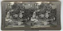 CHILD STEREOVIEW -  WASHING DOLL CLOTHES