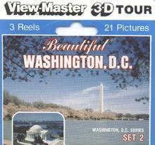 BEAUTIFUL WASHINGTON DC   - VIEWMASTER 3 REEL PACKET