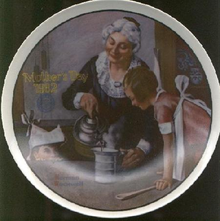 MOTHER'S DAY NORMAN ROCKWELL COLLECTOR PLATE