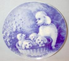 MOTHER'S DAY - GERMAN MOTHER'S DAY PLATE WITH POODLES!
