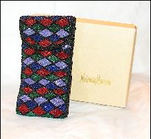 MULTI COLOR - BEADED CLUTCH EYEGLASS / CELL PHONE CASE