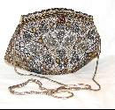 ORNATE BEAD AND RHINESTONE PURSE
