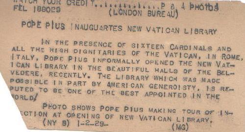 RARE & ORIGINAL PHOTO OF POPE PIUS XI