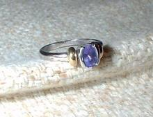 TANZANITE RING IN TIFFANY STYLE SETTING