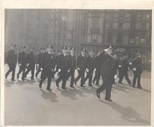 HISTORICAL PARADE PHOTO - MARCHING POLICE...