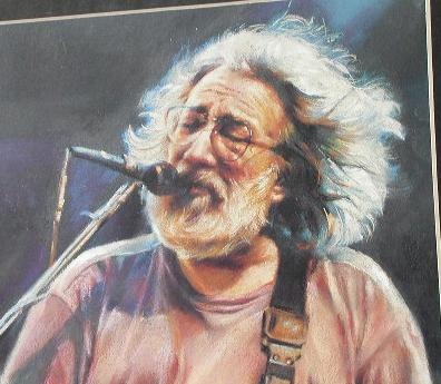 JERRY GARCIA IN CONCERT  - MATTED ART PRINT