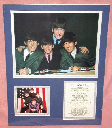 THE BEATLES - MATTED BIOGRAPHY ART