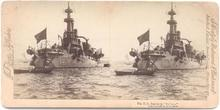 STEREOVIEW - BATTLESHIP - U.S.