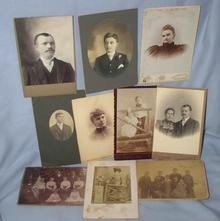 GROUP OF CABINET CARDS AND PHOTOGRAPHS