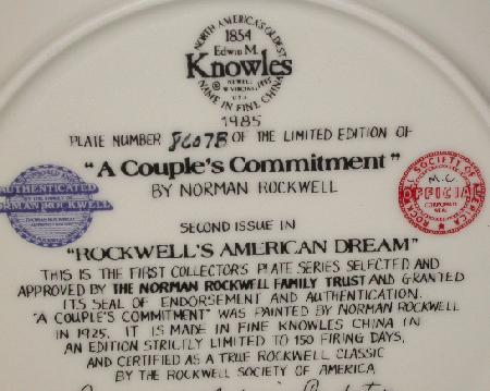 NORMAN ROCKWELL COLLECTOR PLATE -
