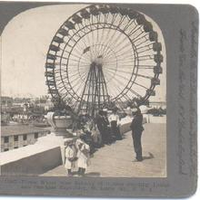 STEREOVIEW - FERRIS WHEEL - LOUISIANA PURCHASE EXPOSITION