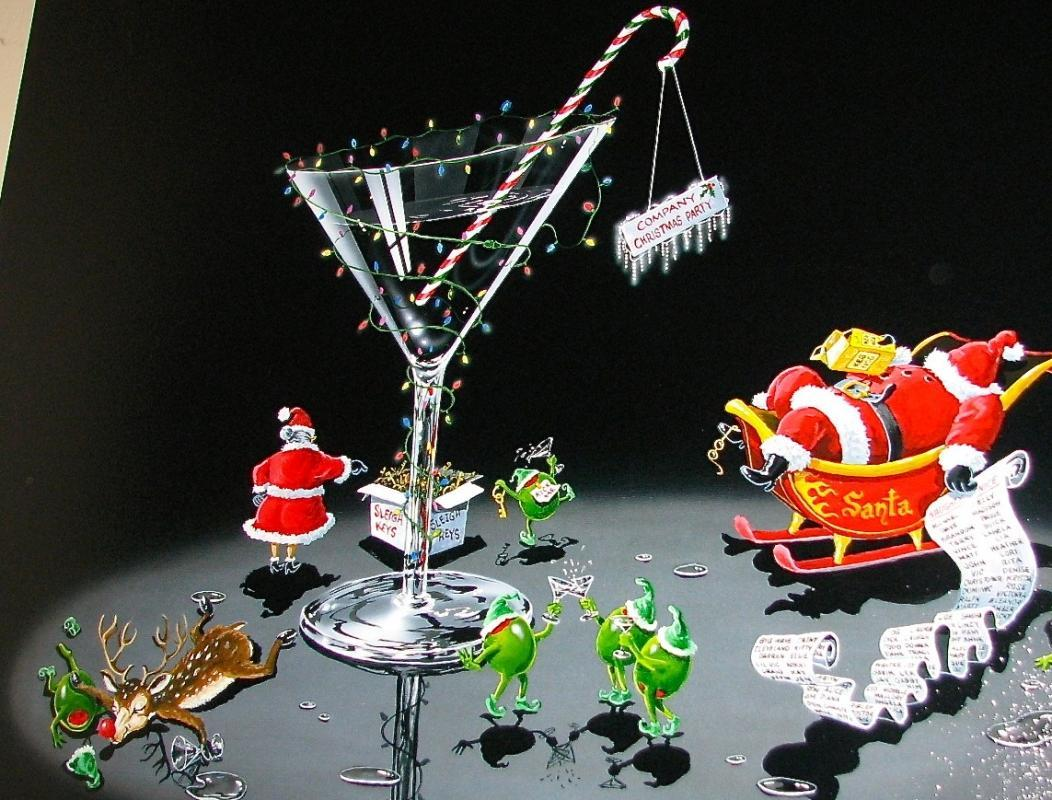 MICHAEL GODARD GICLEE - THE CHRISTMAS PARTY