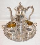 SILVER PLATE COFFEE SET