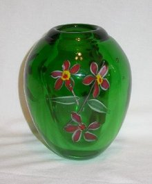 CASED GLASS VASE